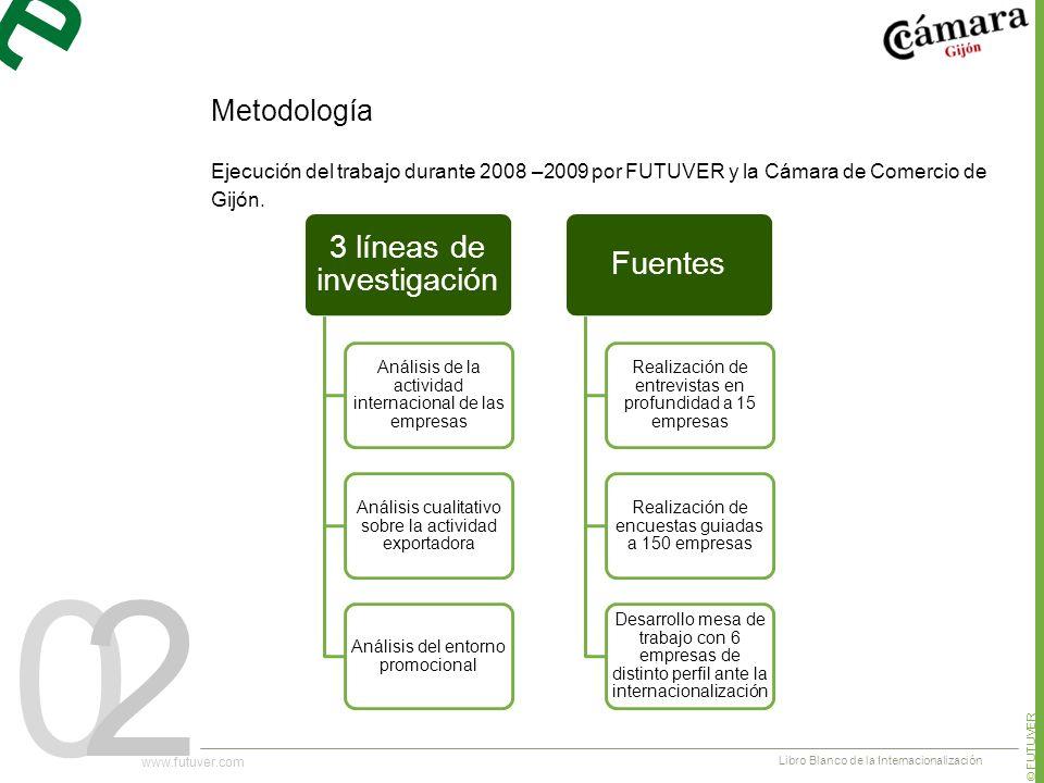 02 Ejecución del trabajo durante 2008 –2009 por FUTUVER y la Cámara de Comercio de Gijón.