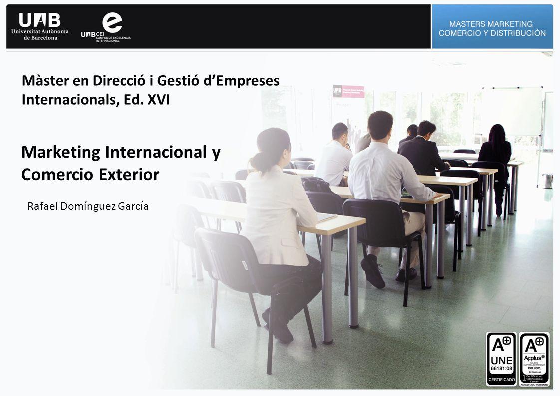 1 Màster en Direcció i Gestió dEmpreses Internacionals, Ed.
