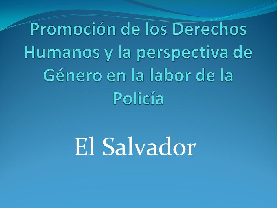 Antecedente En El Salvador, los acuerdos de Paz firmados entre el Gobierno y la Guerrilla, en 1992, estable la creación de una Policía, con participación de un porcentaje del Ejercito Militar, otra participación de miembros activos del FMLN, que participaron en la Guerra de los años 1980-1992.