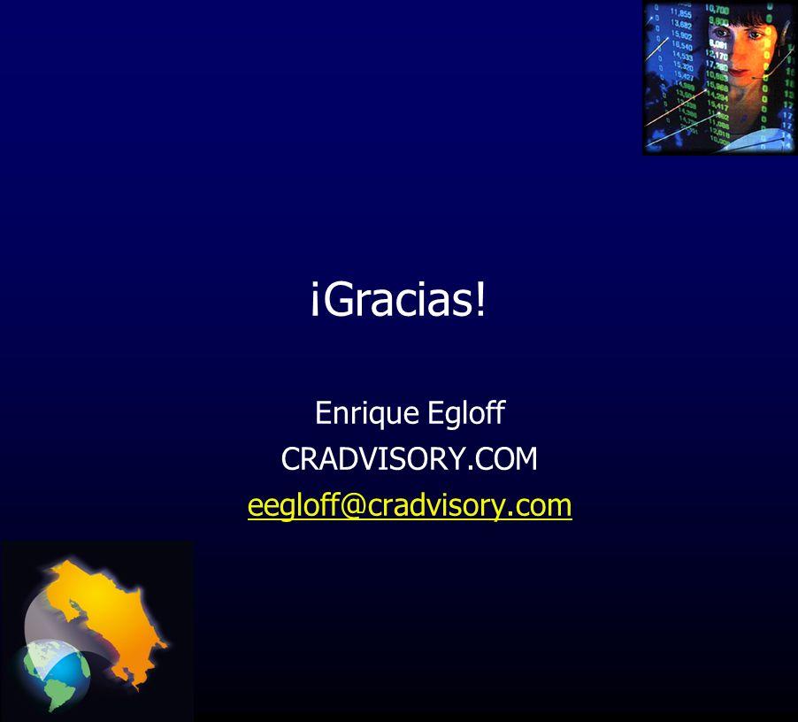 Enrique Egloff CRADVISORY.COM eegloff@cradvisory.com ¡Gracias!