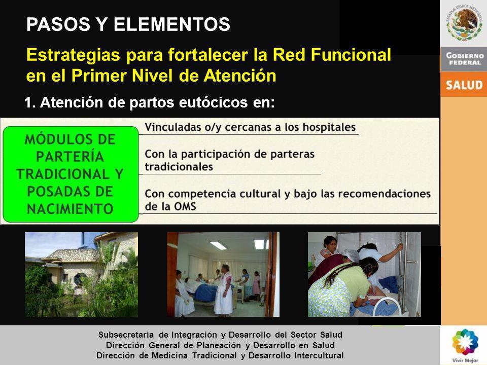 Subsecretaría de Integración y Desarrollo del Sector Salud Dirección General de Planeación y Desarrollo en Salud Dirección de Medicina Tradicional y D