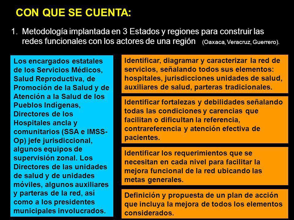 Los encargados estatales de los Servicios Médicos, Salud Reproductiva, de Promoción de la Salud y de Atención a la Salud de los Pueblos Indígenas, Dir