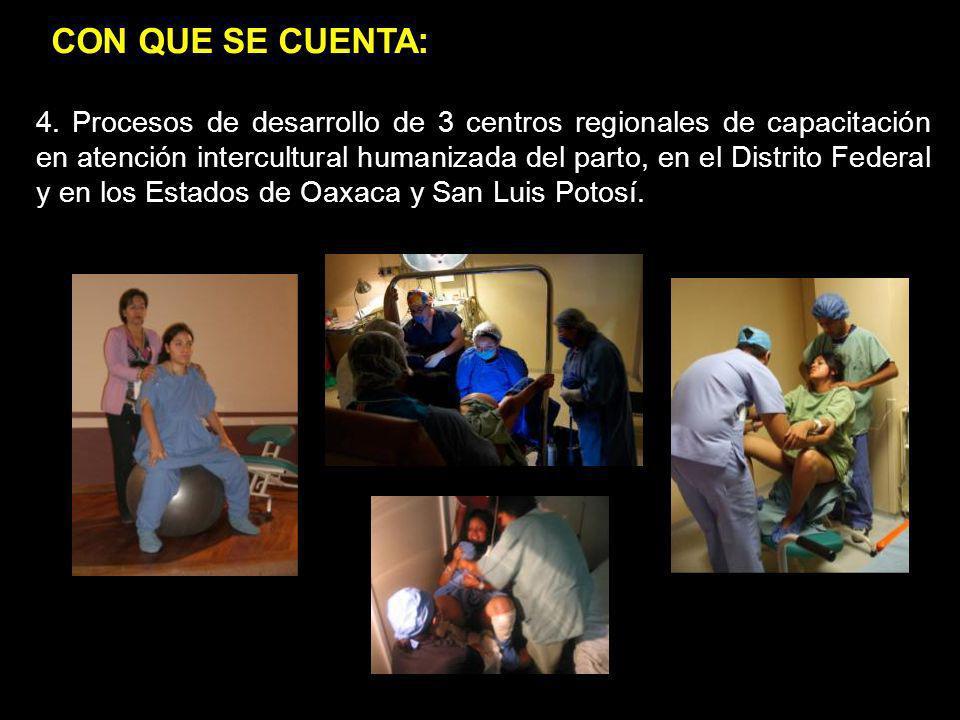 1.jgj 2.pop 4. Procesos de desarrollo de 3 centros regionales de capacitación en atención intercultural humanizada del parto, en el Distrito Federal y