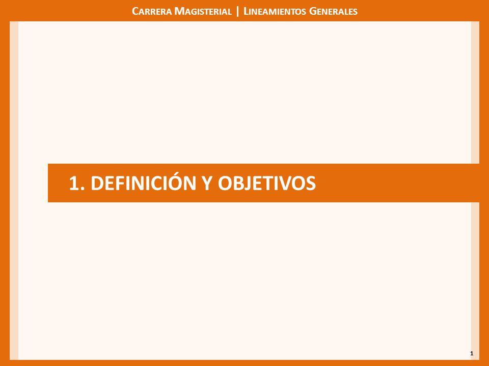 C ARRERA M AGISTERIAL | L INEAMIENTOS G ENERALES 1 1. DEFINICIÓN Y OBJETIVOS