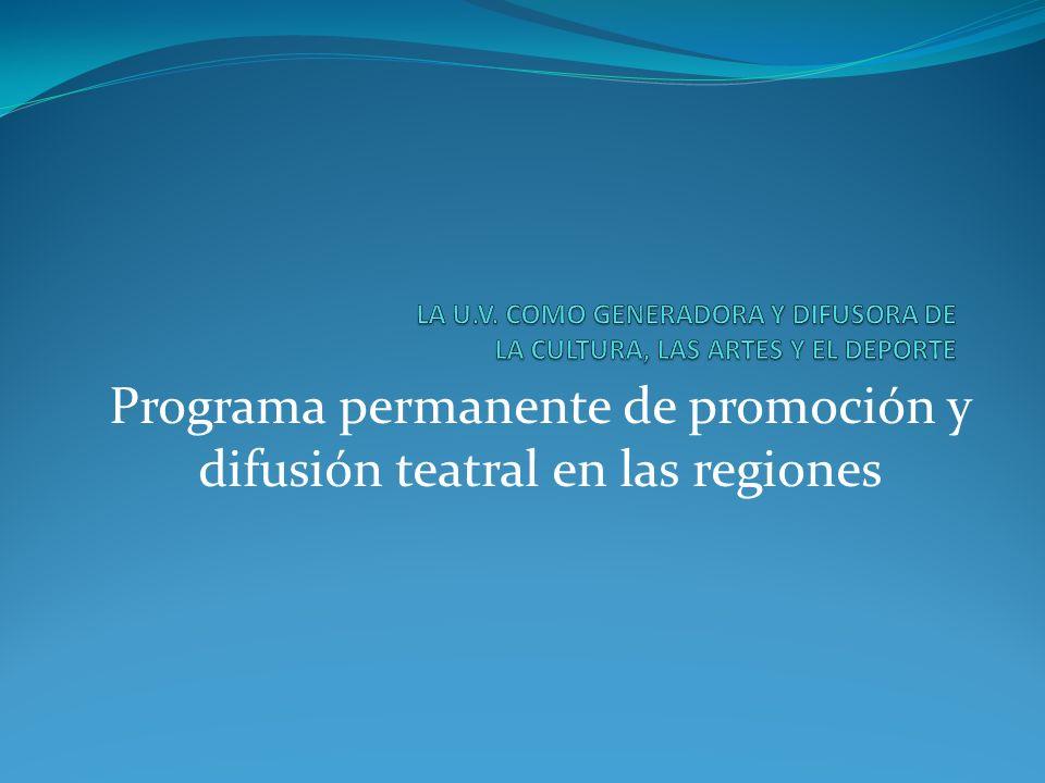 Programa permanente de promoción y difusión teatral en las regiones