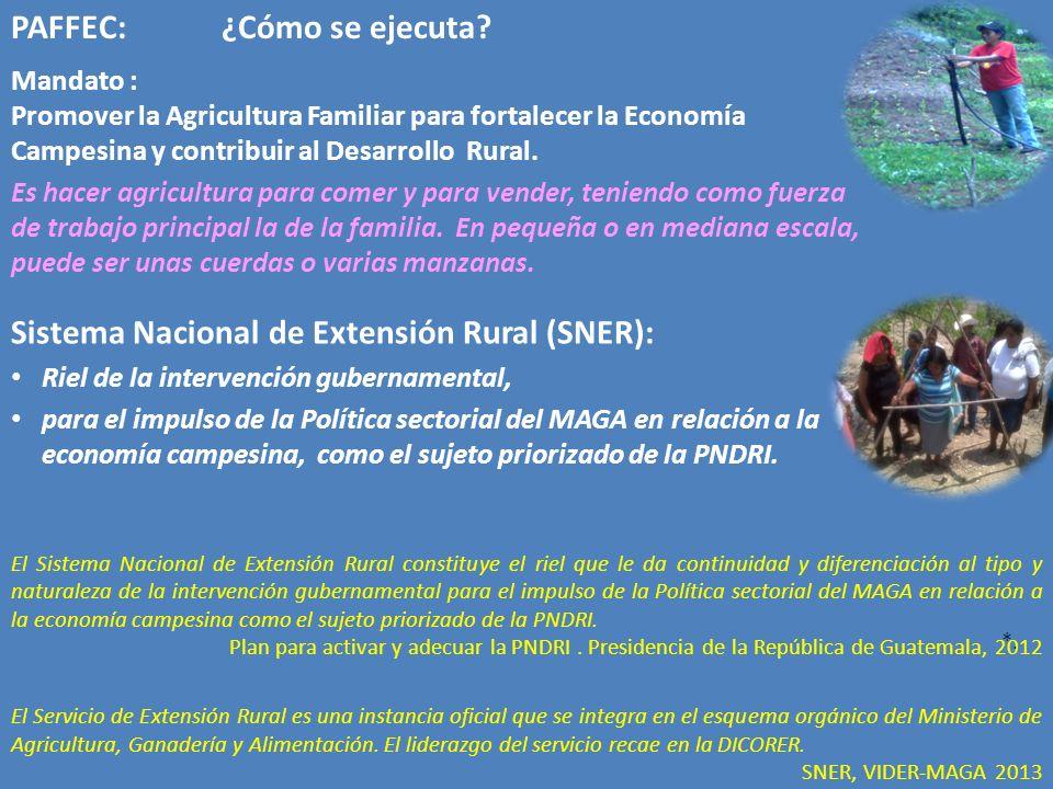 Mandato : Promover la Agricultura Familiar para fortalecer la Economía Campesina y contribuir al Desarrollo Rural.