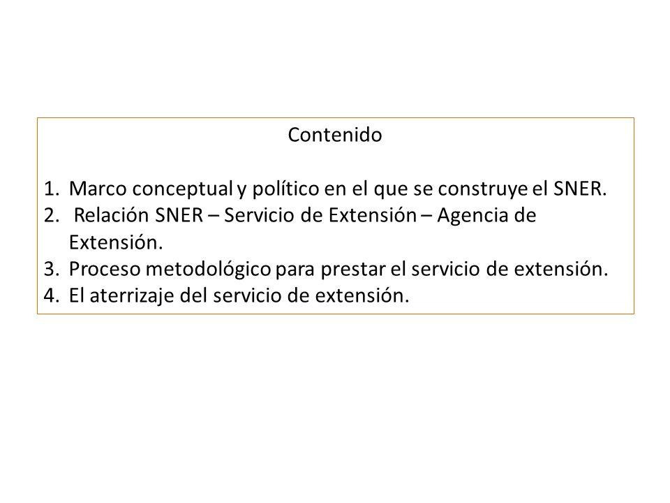 Contenido 1.Marco conceptual y político en el que se construye el SNER.