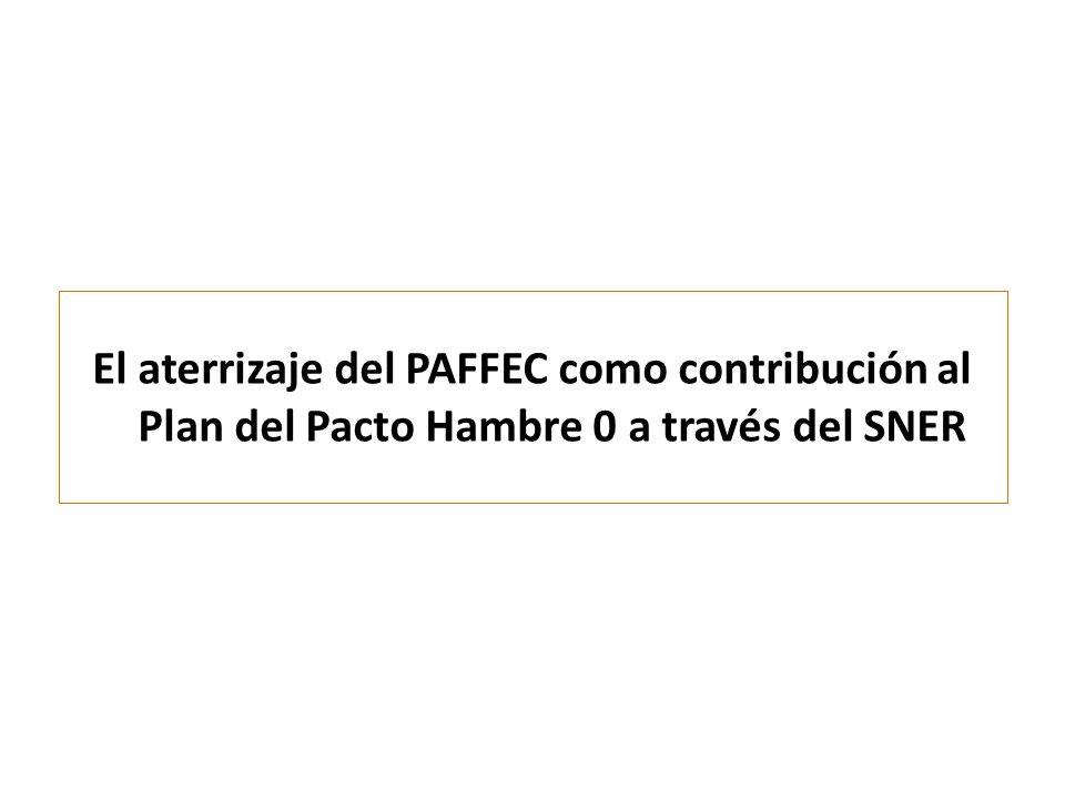 El aterrizaje del PAFFEC como contribución al Plan del Pacto Hambre 0 a través del SNER