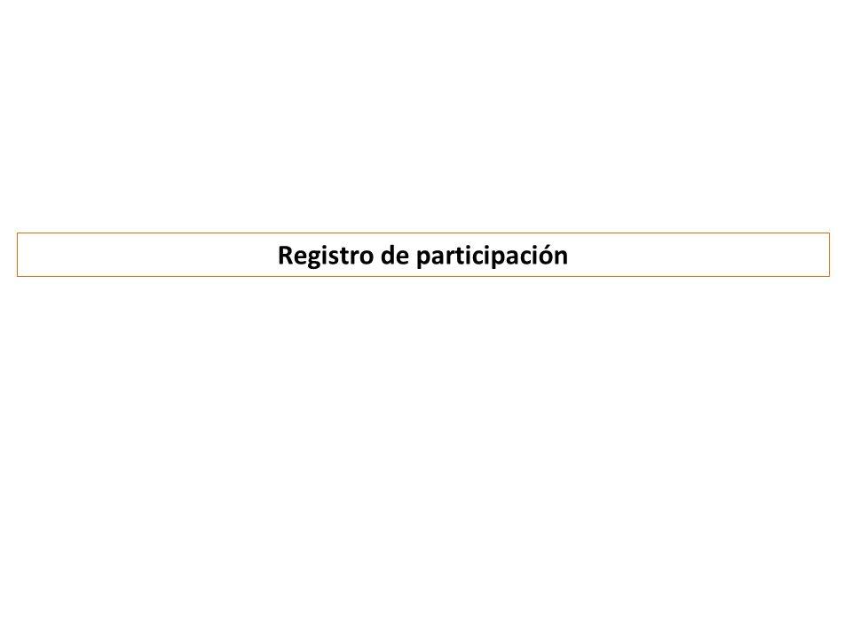 Registro de participación