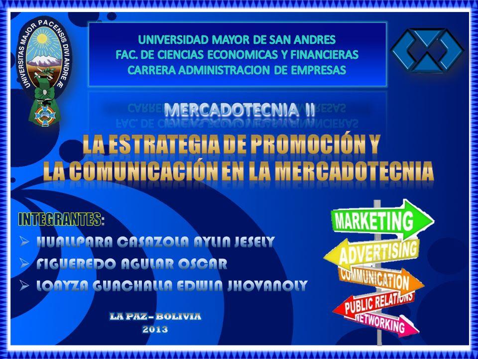 Método para coordinar cuidadosamente todas las actividades de promoción para generar un mensaje consistente y unificado enfocado en el consumidor