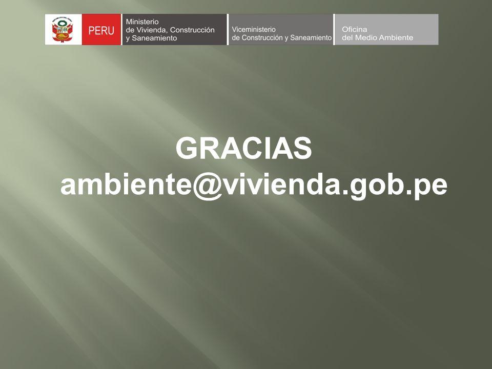GRACIAS ambiente@vivienda.gob.pe