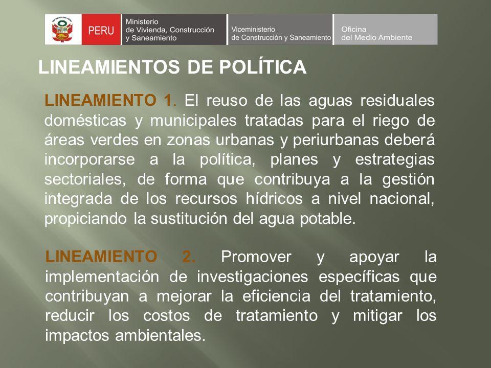 LINEAMIENTOS DE POLÍTICA LINEAMIENTO 3.