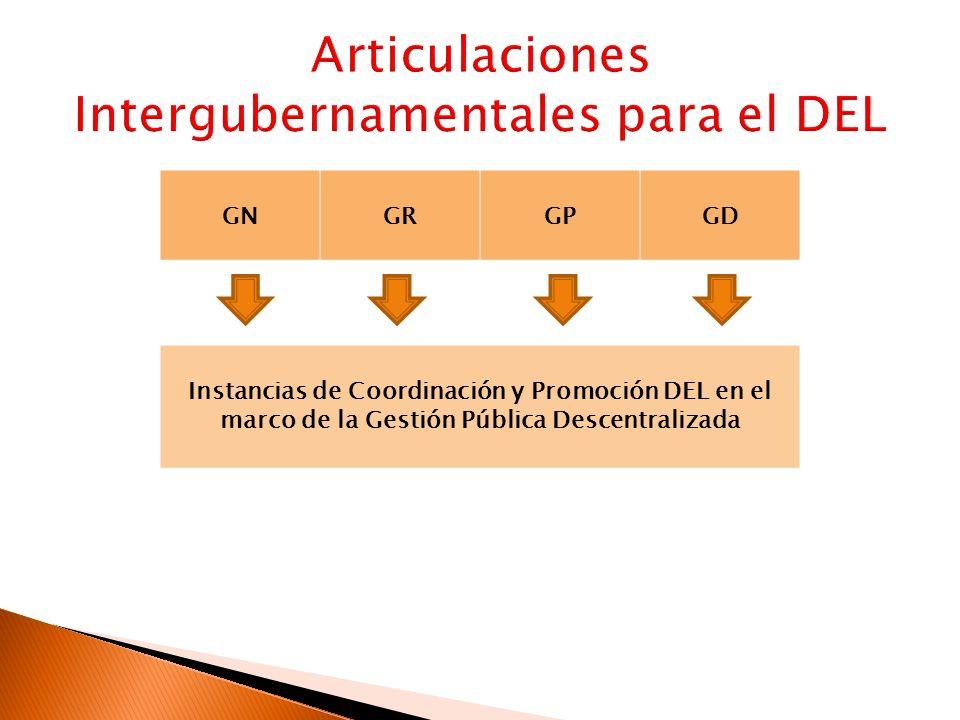 GNGRGPGD Instancias de Coordinación y Promoción DEL en el marco de la Gestión Pública Descentralizada
