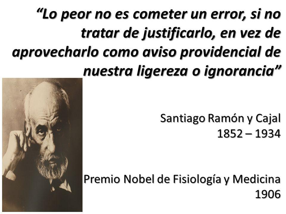 Lo peor no es cometer un error, si no tratar de justificarlo, en vez de aprovecharlo como aviso providencial de nuestra ligereza o ignorancia Santiago