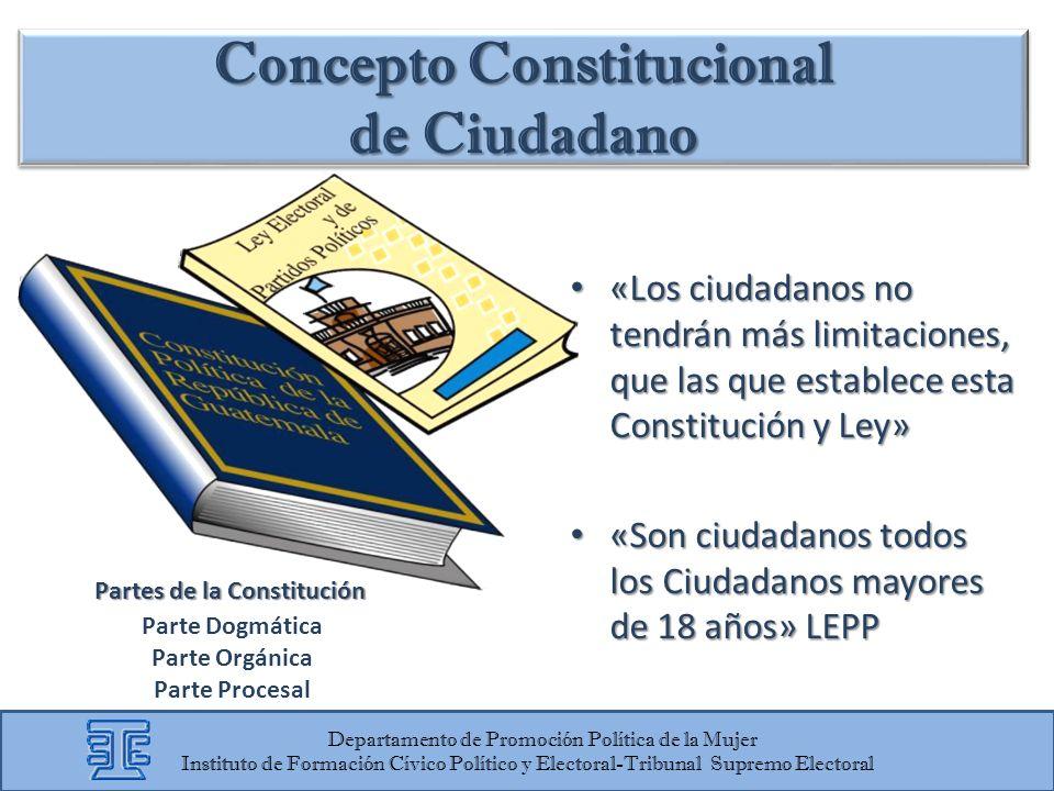 «Los ciudadanos no tendrán más limitaciones, que las que establece esta Constitución y Ley» «Los ciudadanos no tendrán más limitaciones, que las que e
