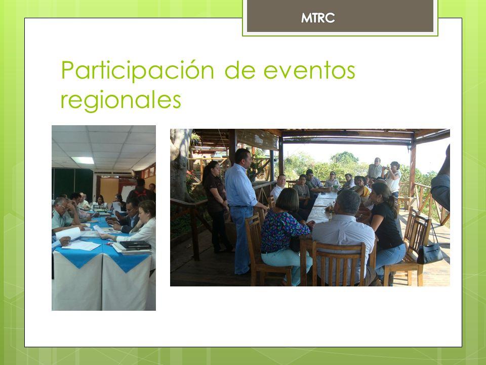 Participación de eventos regionales