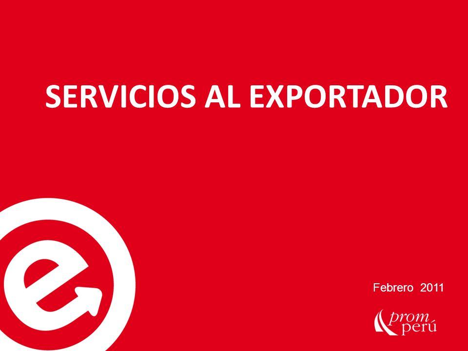 Febrero 2011 SERVICIOS AL EXPORTADOR