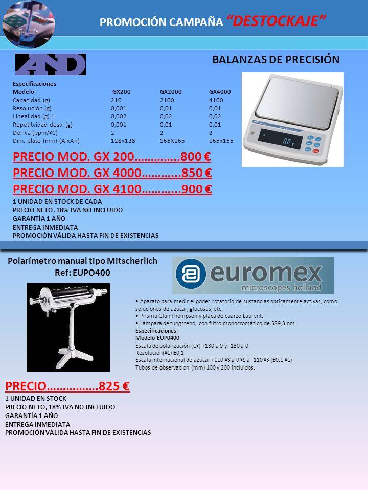 Especificaciones Modelo GX200GX2000 GX4000 Capacidad (g)210 21004100 Resolución (g) 0,0010,010,01 Linealidad (g) ±0,0020,020,02 Repetitvidad desv. (g)