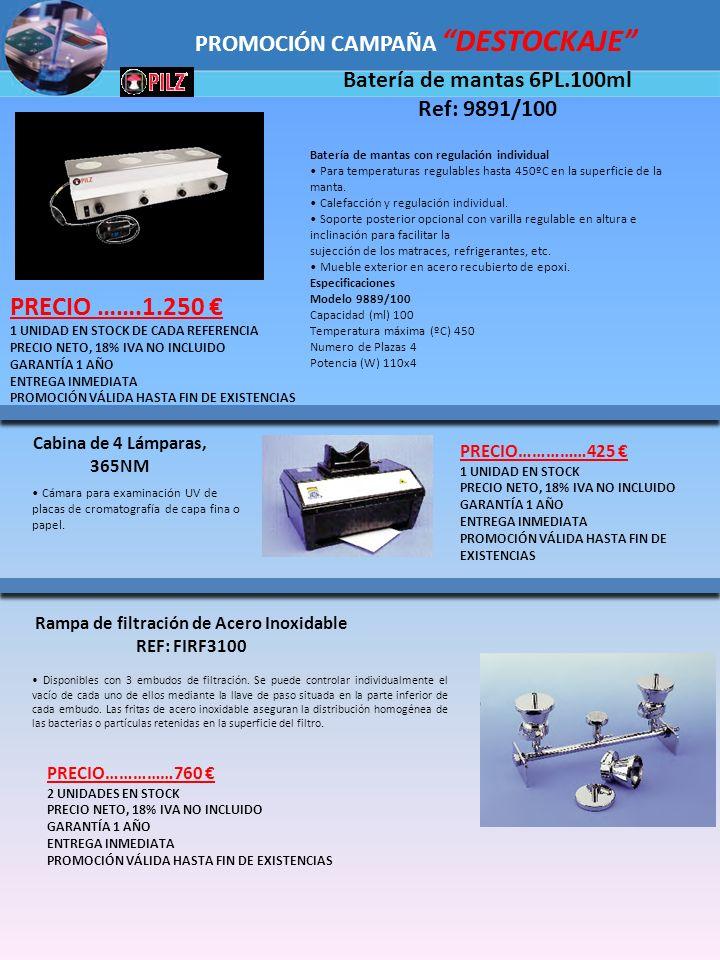Batería de mantas con regulación individual Para temperaturas regulables hasta 450ºC en la superficie de la manta. Calefacción y regulación individual