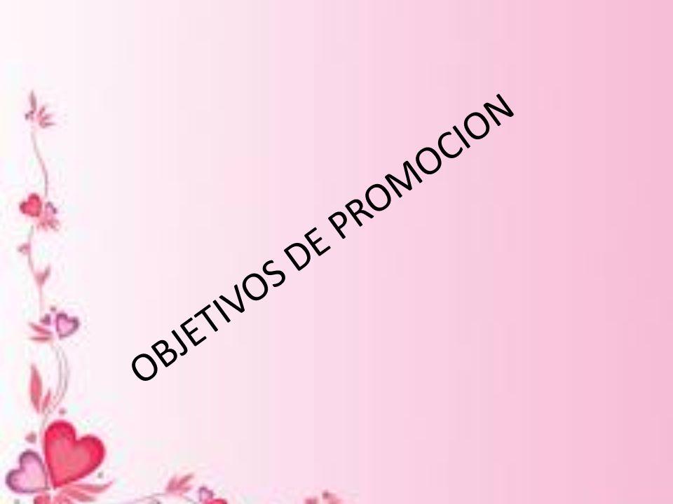 OBJETIVOS DE PROMOCION