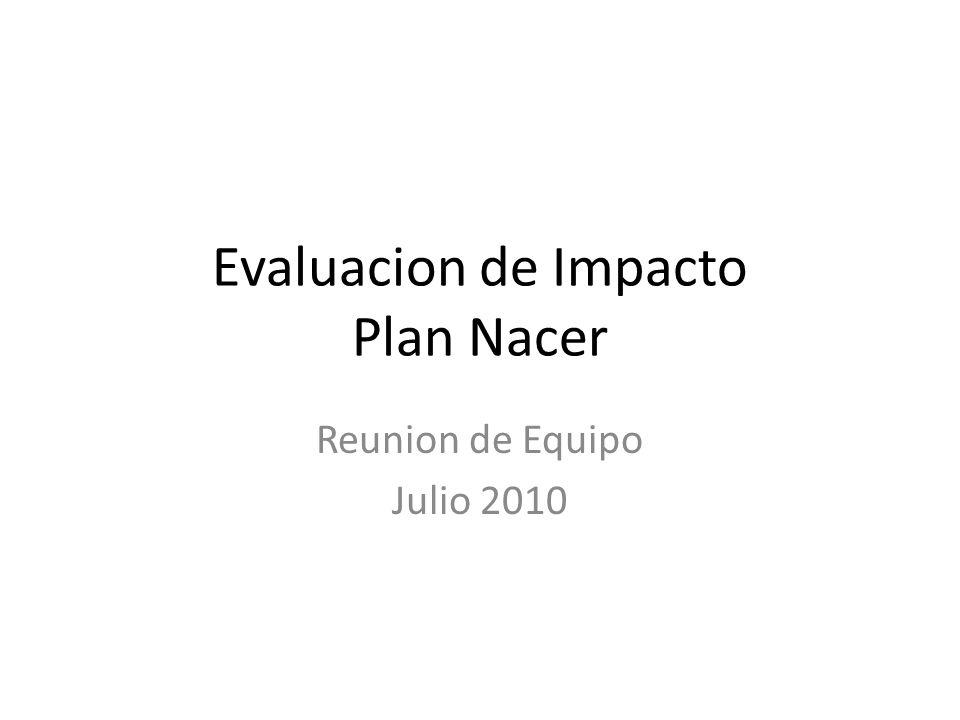 Evaluacion de Impacto Plan Nacer Reunion de Equipo Julio 2010