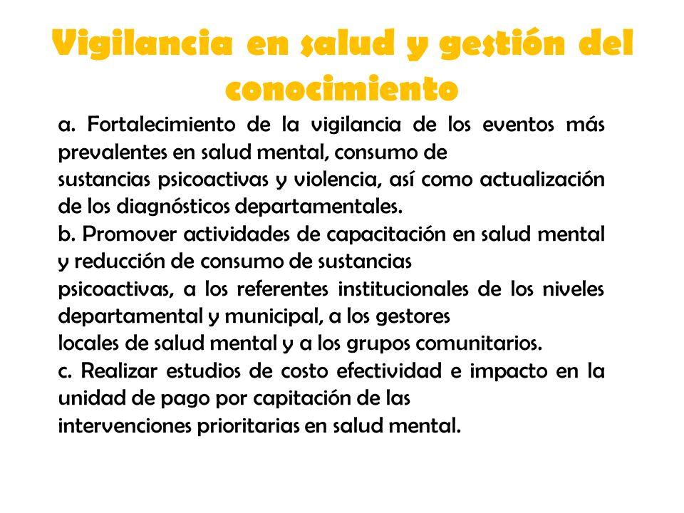 Vigilancia en salud y gestión del conocimiento a.