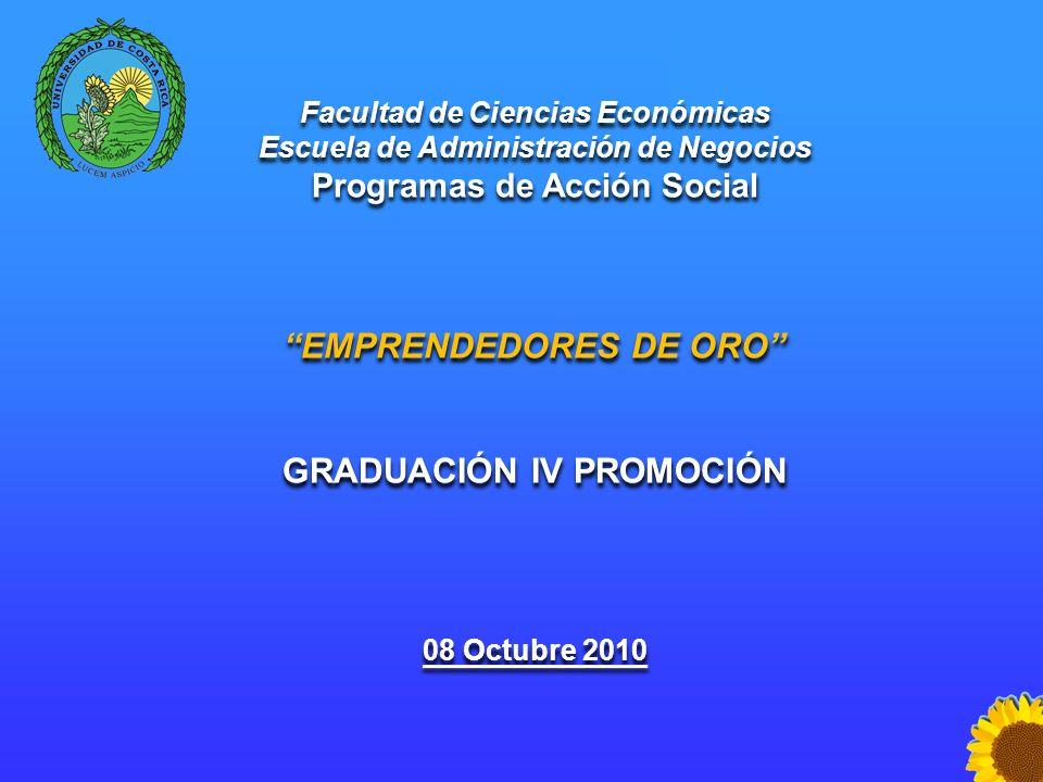 Escuela de Administración de Negocios Programas Sociales Facultad de Ciencias Económicas Escuela de Administración de Negocios Programas de Acción Soc