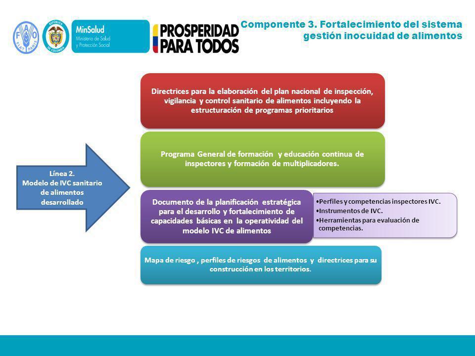 Directrices para la elaboración del plan nacional de inspección, vigilancia y control sanitario de alimentos incluyendo la estructuración de programas