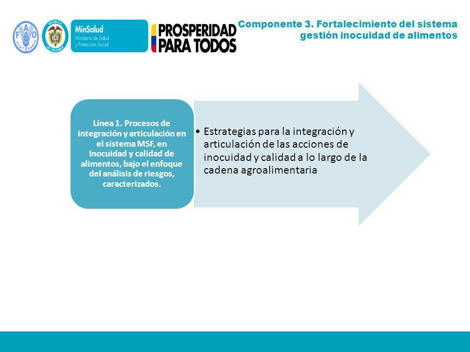 Estrategias para la integración y articulación de las acciones de inocuidad y calidad a lo largo de la cadena agroalimentaria Línea 1. Procesos de int