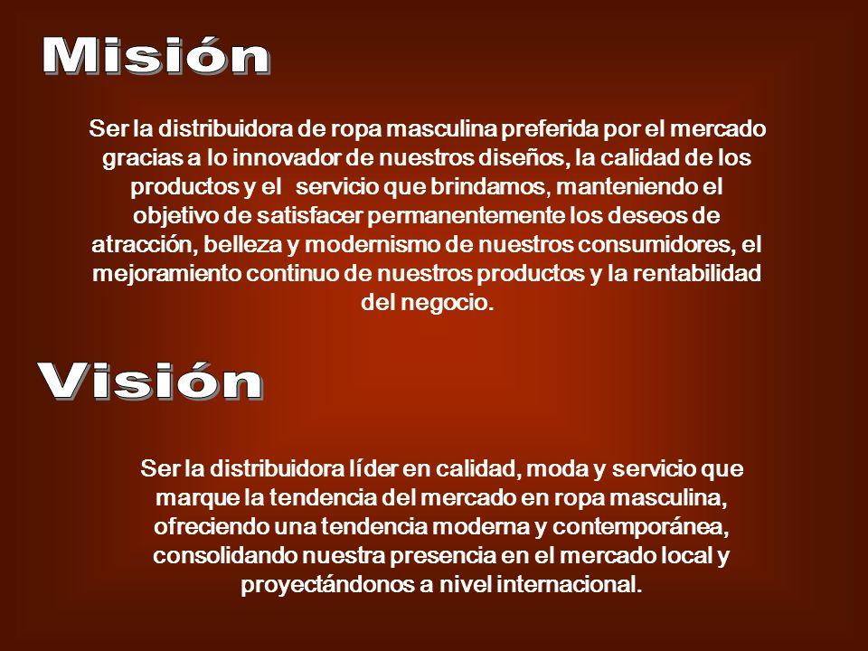 GERENTE GENERAL JEFE ADMINISTRATIVO NOMINA Y OPERACIONES INVENTARIOS Y MERCADERIA JEFE DE MARKETING Y DISTRIBUCION GERENTE DE TERRITORIOS VENDEDORES AL DETALLE DISTRIBUIDORES LOCALES COMERCAILES JEFE FINANCIERO CONTABILIDADCREDITO Y COBRANZAS JEFE DE DISEÑOS Y DESARROLLO COMPRAS ASISTENTE/TESORERIA