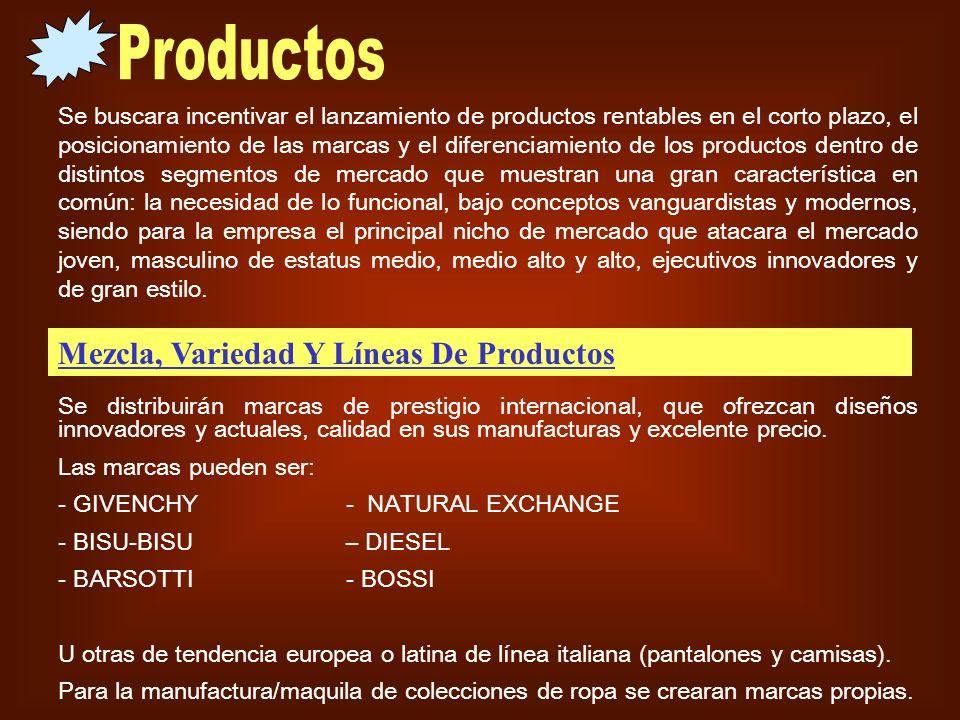 Se buscara incentivar el lanzamiento de productos rentables en el corto plazo, el posicionamiento de las marcas y el diferenciamiento de los productos