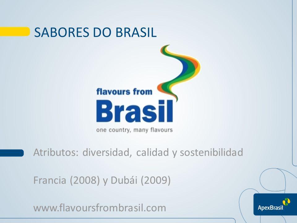 SABORES DO BRASIL Atributos: diversidad, calidad y sostenibilidad Francia (2008) y Dubái (2009) www.flavoursfrombrasil.com