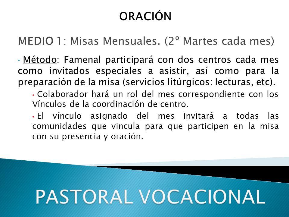 MEDIO 1: Misas Mensuales.