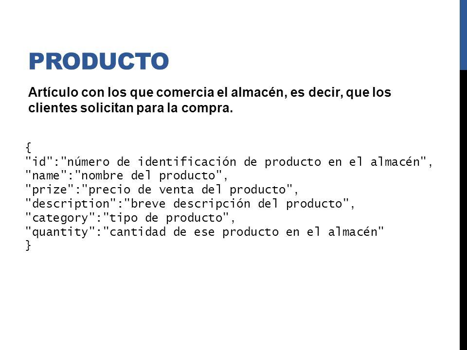 PRODUCTO { id :0, name : Sandía , prize :15, description : Procedencia: Almería , category : Fruta , quantity : 100 }