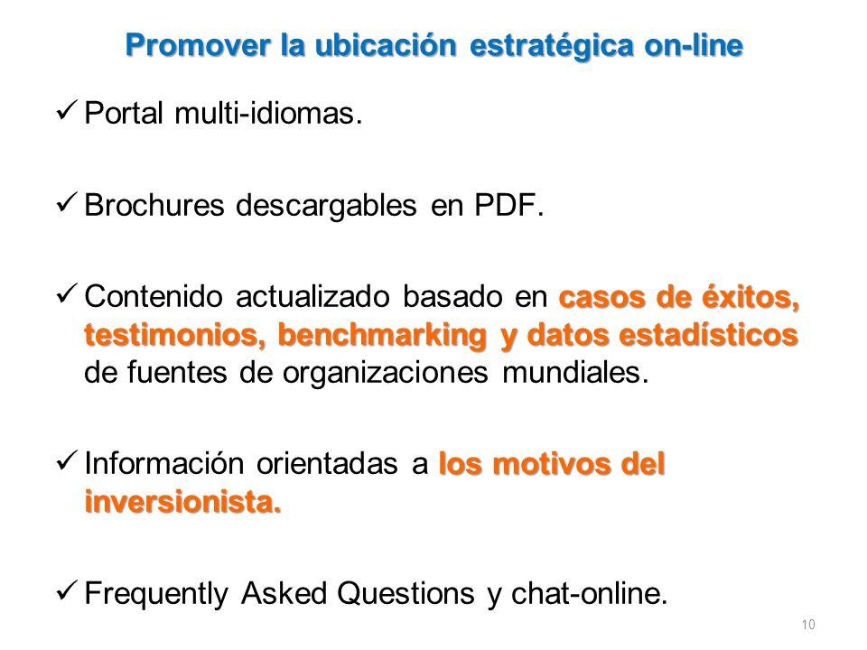 Promover la ubicación estratégica on-line Portal multi-idiomas.