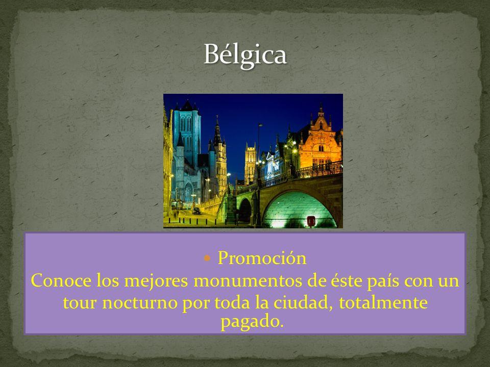 Promoción Conoce los mejores monumentos de éste país con un tour nocturno por toda la ciudad, totalmente pagado.