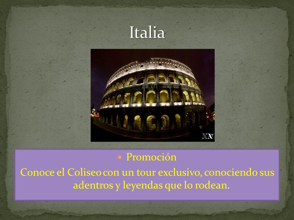 Promoción Conoce el Coliseo con un tour exclusivo, conociendo sus adentros y leyendas que lo rodean.