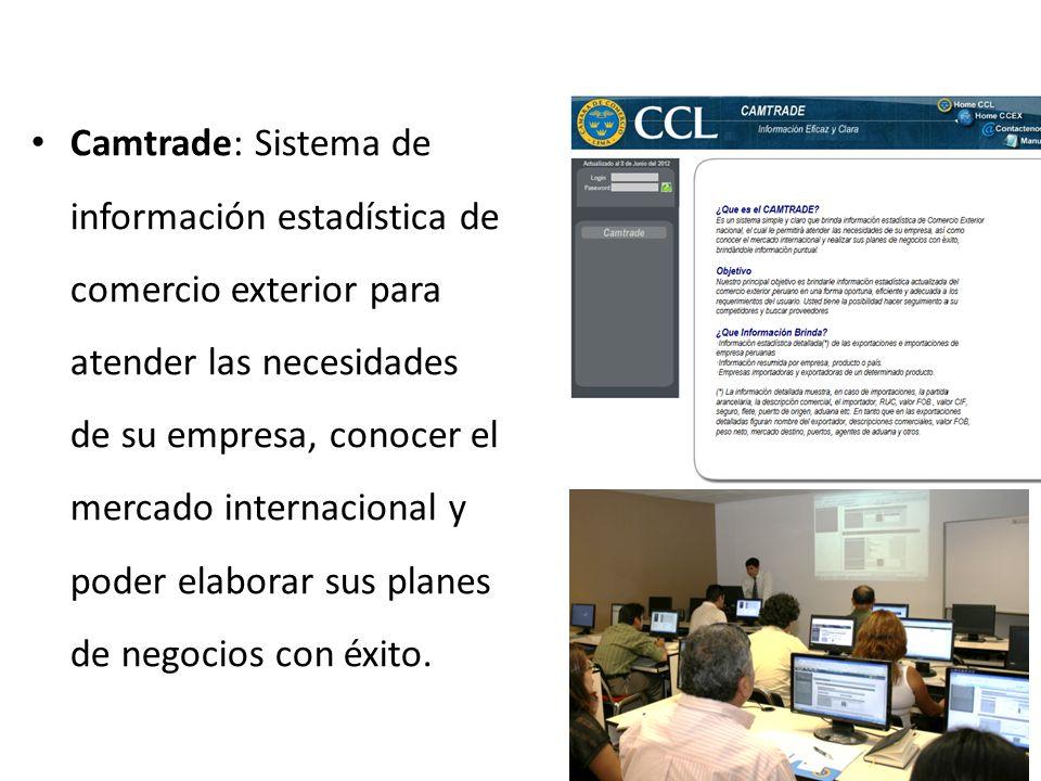 Camtrade: Sistema de información estadística de comercio exterior para atender las necesidades de su empresa, conocer el mercado internacional y poder