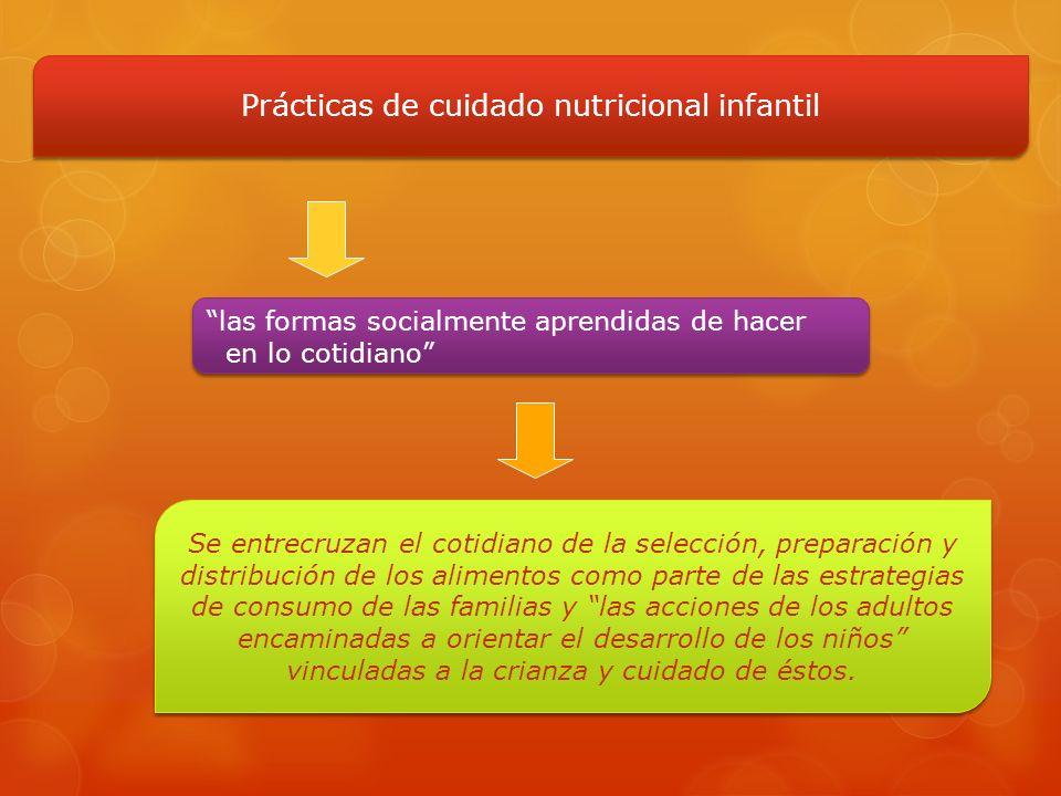 Se entrecruzan el cotidiano de la selección, preparación y distribución de los alimentos como parte de las estrategias de consumo de las familias y la