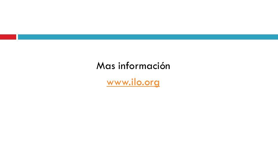 Mas información www.ilo.org
