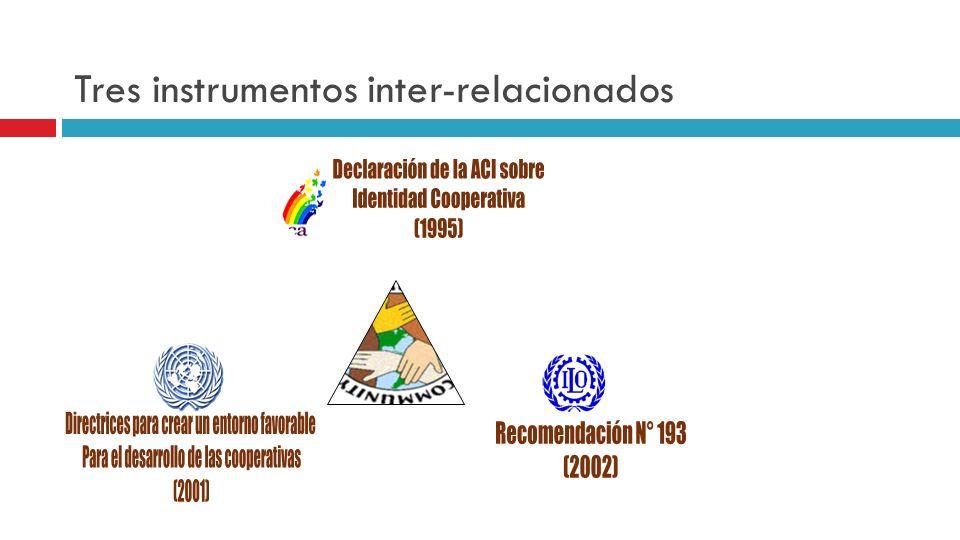Tres instrumentos inter-relacionados