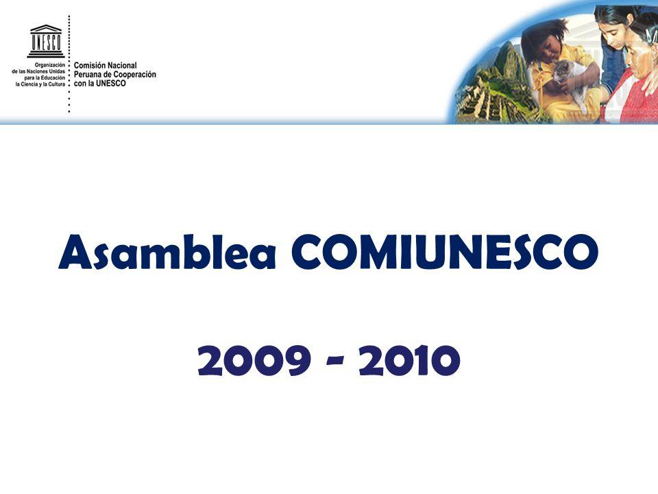Asamblea COMIUNESCO 2009 - 2010
