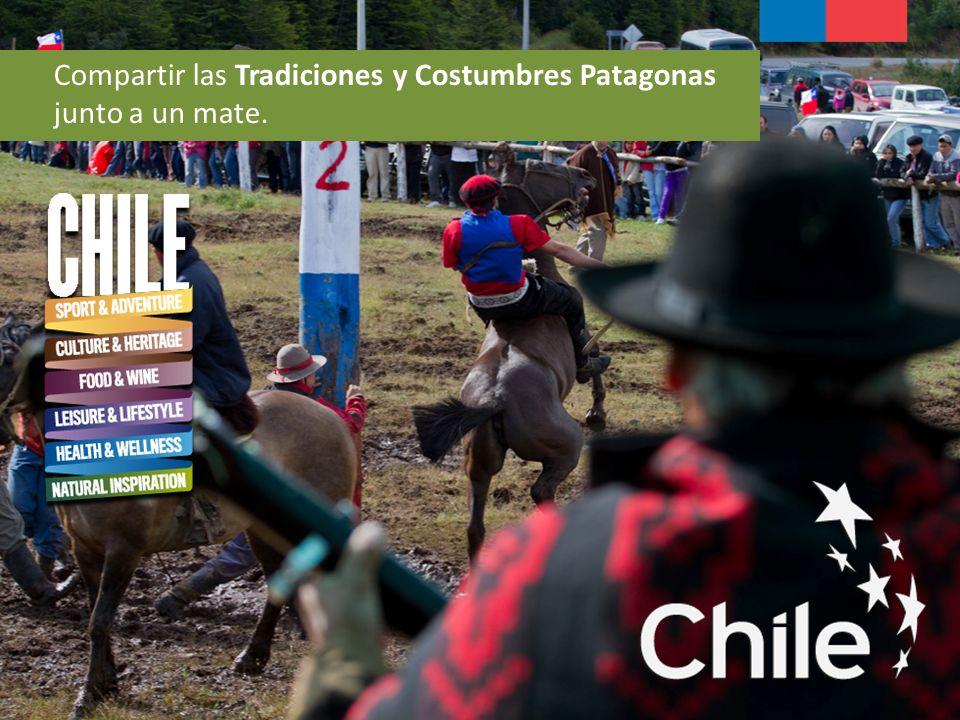 Compartir las Tradiciones y Costumbres Patagonas junto a un mate.