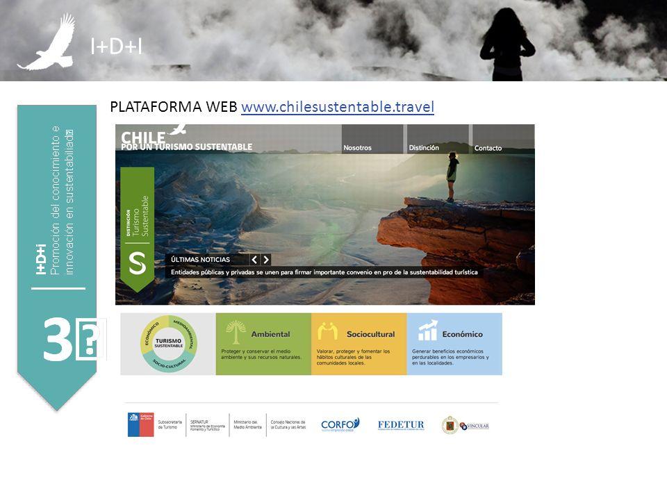 I+D+I PLATAFORMA WEB www.chilesustentable.travelwww.chilesustentable.travel
