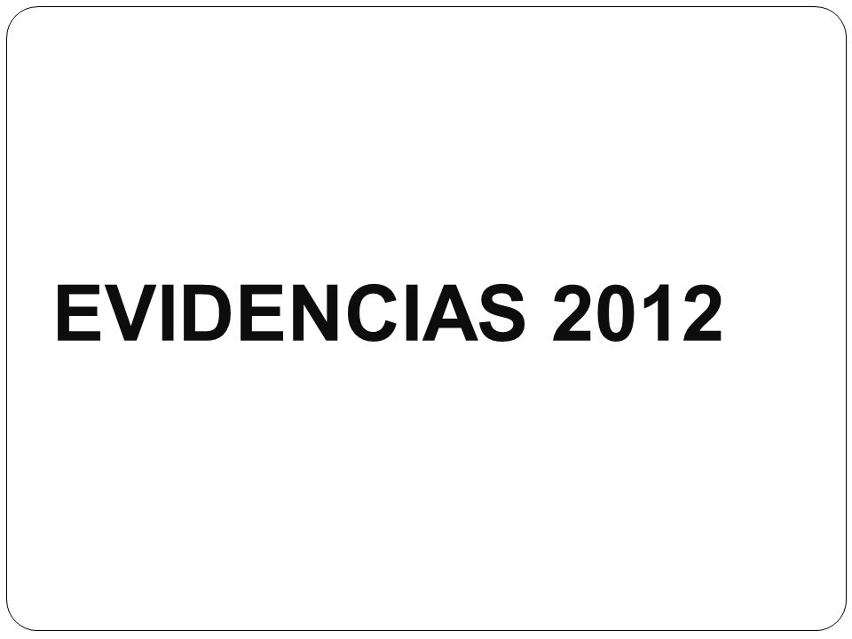 EVIDENCIAS 2012