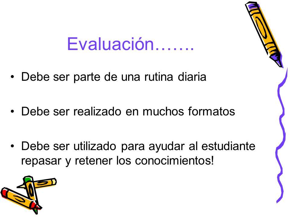 Evaluación…….