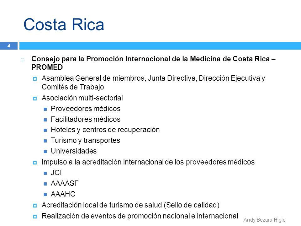Costa Rica 4 Consejo para la Promoción Internacional de la Medicina de Costa Rica – PROMED Asamblea General de miembros, Junta Directiva, Dirección Ej