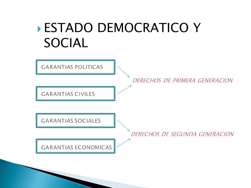 ESTADO DEMOCRATICO Y SOCIAL