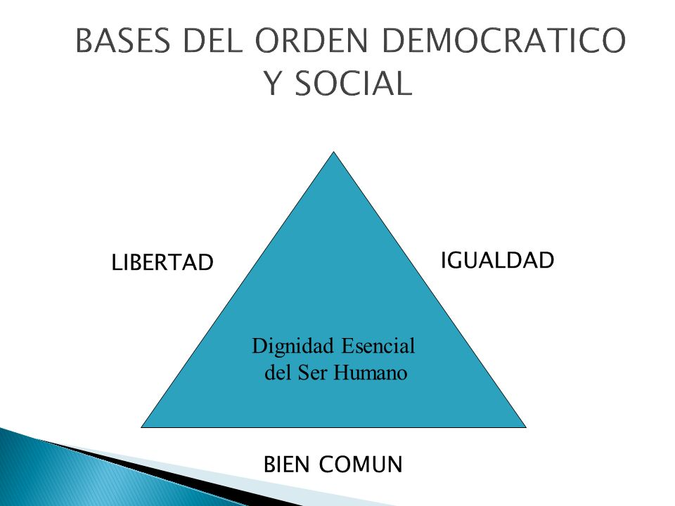 Dignidad Esencial del Ser Humano IGUALDAD LIBERTAD BIEN COMUN