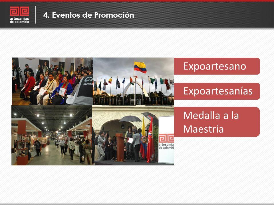 Expoartesano Expoartesanías Medalla a la Maestría 4. Eventos de Promoción